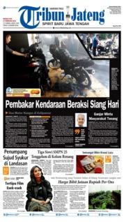 Cover Tribun Jateng 17 Februari 2019