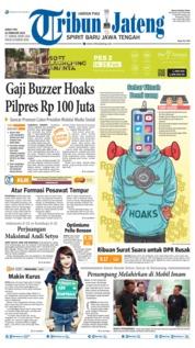 Cover Tribun Jateng 22 Februari 2019