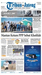 Cover Tribun Jateng 23 Maret 2019