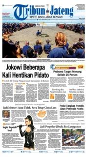 Cover Tribun Jateng 07 April 2019