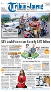 Cover Tribun Jateng 09 April 2019