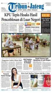 Cover Tribun Jateng 11 April 2019