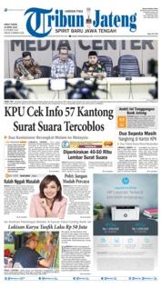 Cover Tribun Jateng 12 April 2019