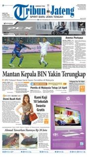 Cover Tribun Jateng 13 April 2019