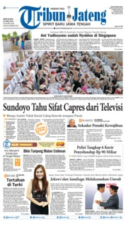 Tribun Jateng Cover 15 April 2019