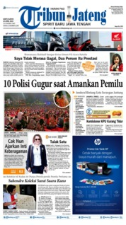 Cover Tribun Jateng 20 April 2019
