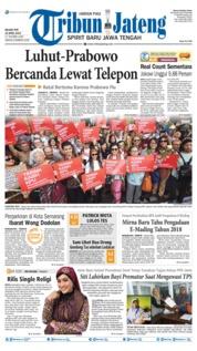 Cover Tribun Jateng 23 April 2019