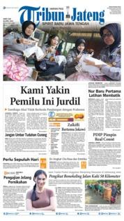 Cover Tribun Jateng 26 April 2019