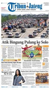 Cover Tribun Jateng 09 Juni 2019