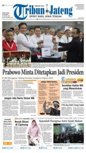 Tribun Jateng Cover 14 June 2019
