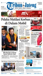 Cover Tribun Jateng 13 Juli 2019