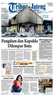 Cover Tribun Jateng 20 Agustus 2019