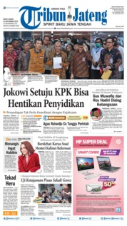 Cover Tribun Jateng 14 September 2019