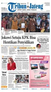 Tribun Jateng Cover 14 September 2019
