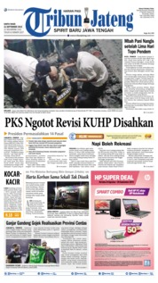 Cover Tribun Jateng 21 September 2019