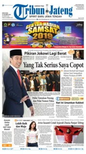 Tribun Jateng Cover 21 October 2019