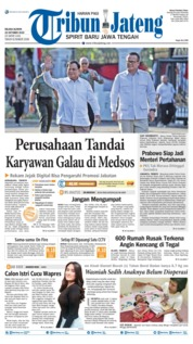 Tribun Jateng Cover 22 October 2019