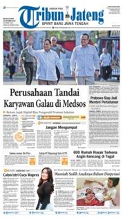 Cover Tribun Jateng 22 Oktober 2019