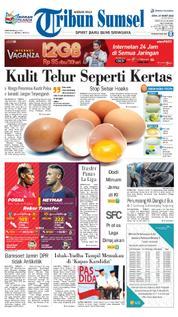 Cover Tribun Sumsel 19 Maret 2018