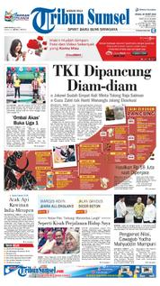 Cover Tribun Sumsel 20 Maret 2018