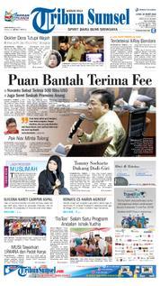 Cover Tribun Sumsel 23 Maret 2018