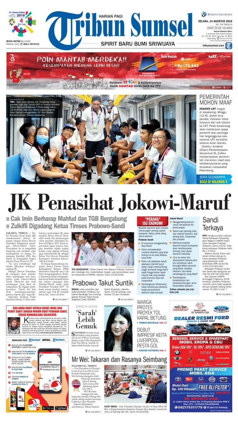 Koran Digital Tribun Sumsel 14 Agustus 2018