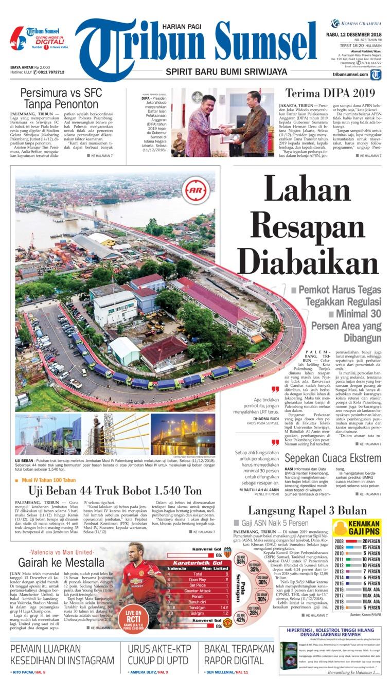 Koran Digital Tribun Sumsel 12 Desember 2018