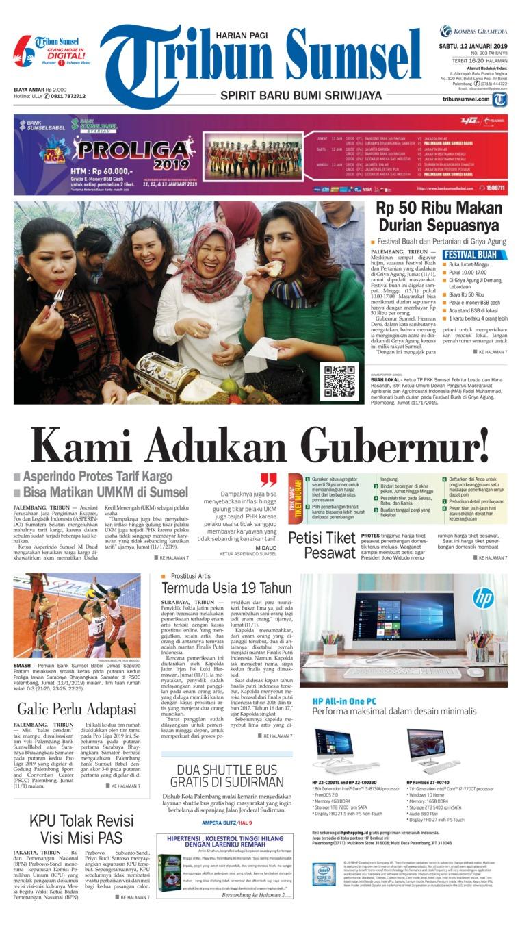 Koran Digital Tribun Sumsel 12 Januari 2019