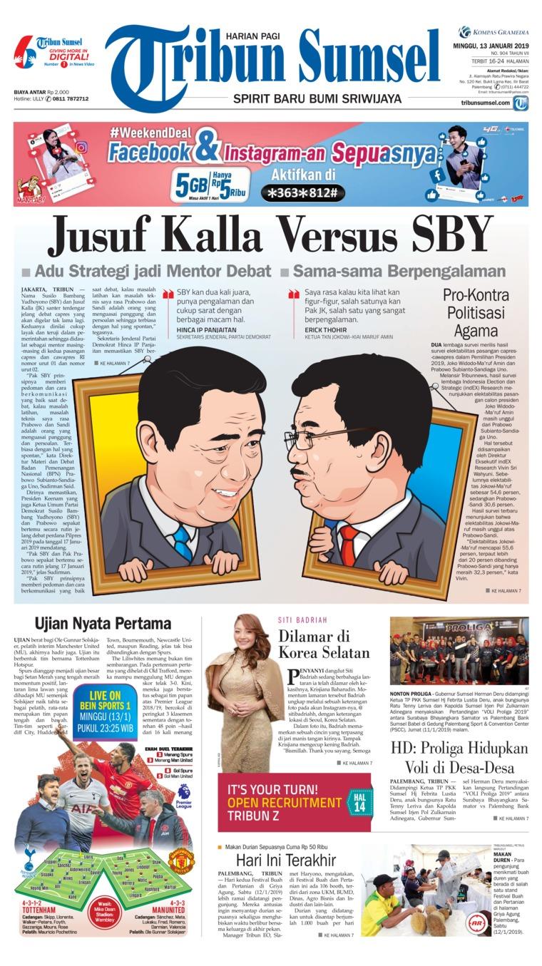 Koran Digital Tribun Sumsel 13 Januari 2019