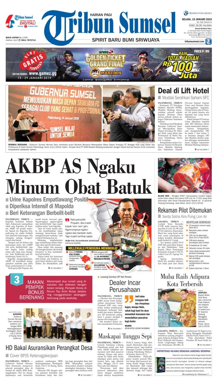 Koran Digital Tribun Sumsel 15 Januari 2019