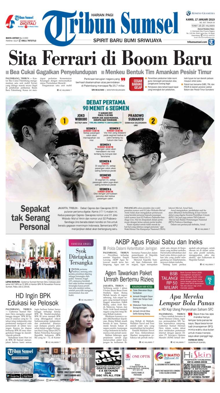Koran Digital Tribun Sumsel 17 Januari 2019