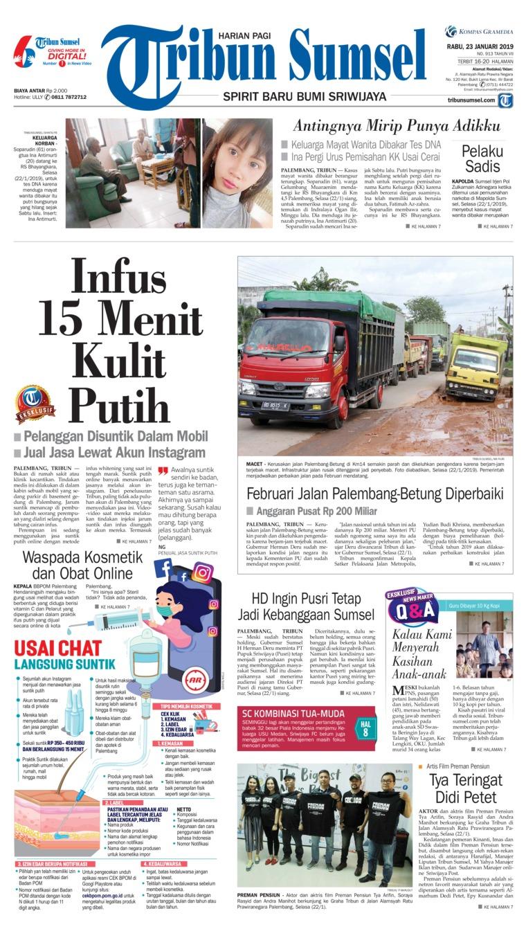 Koran Digital Tribun Sumsel 23 Januari 2019