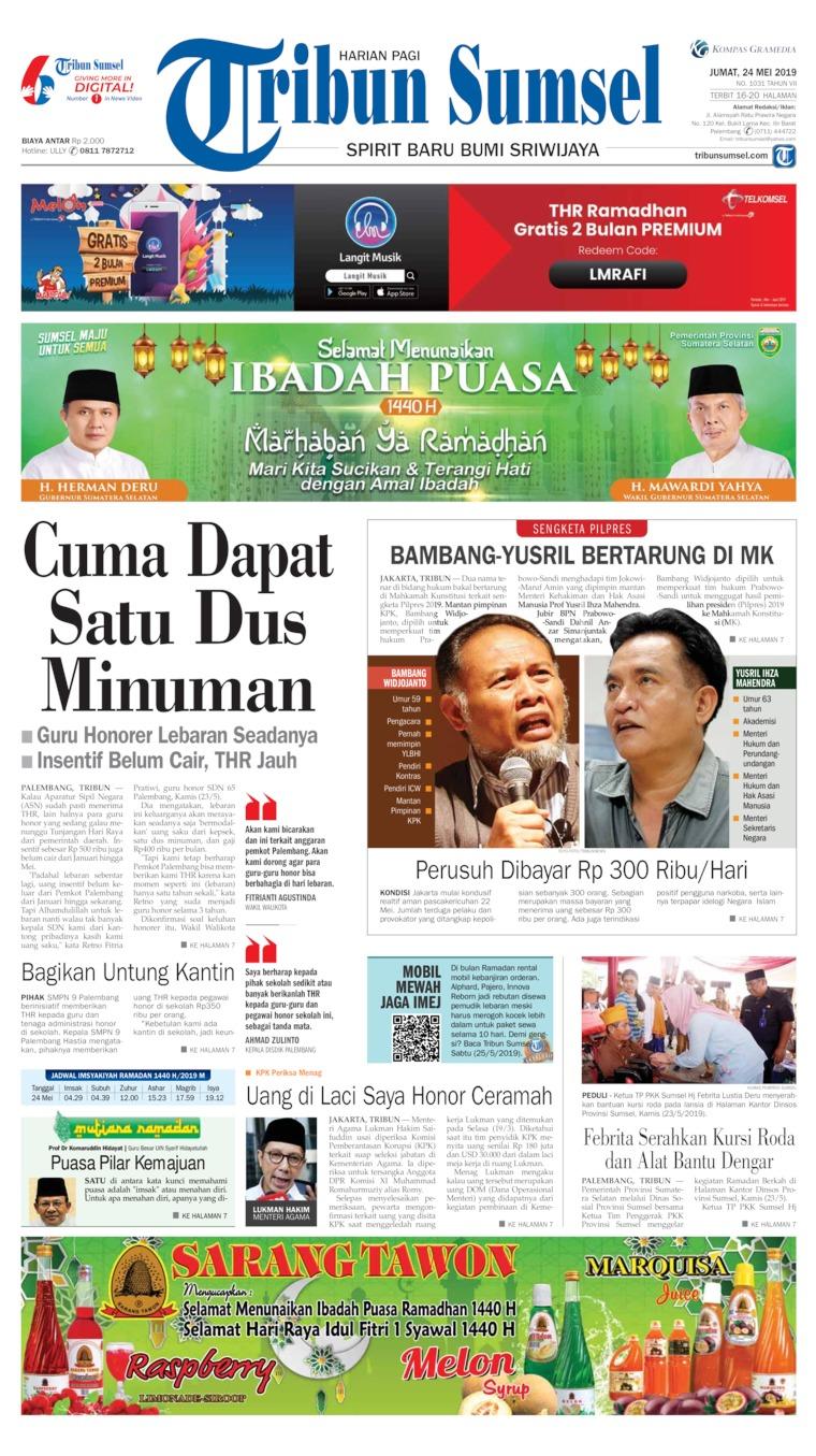 Tribun Sumsel Digital Newspaper 24 May 2019