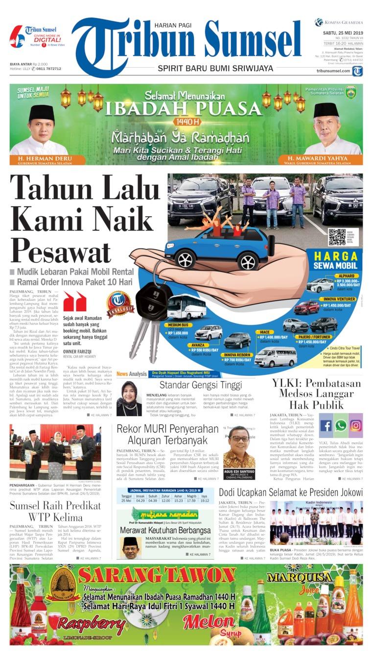 Tribun Sumsel Digital Newspaper 25 May 2019