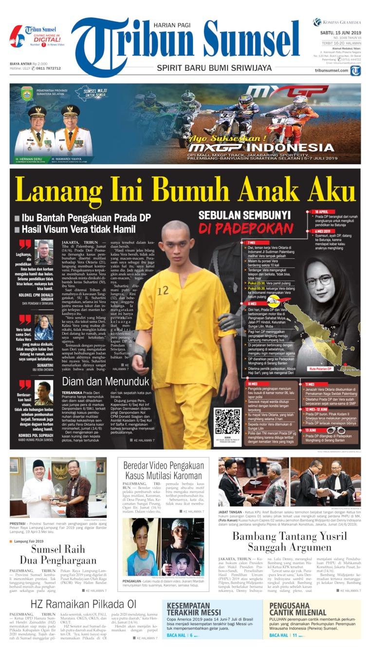 Koran Digital Tribun Sumsel 15 Juni 2019