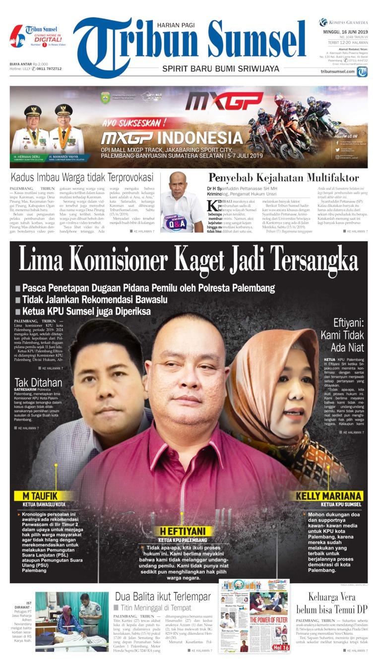 Koran Digital Tribun Sumsel 16 Juni 2019