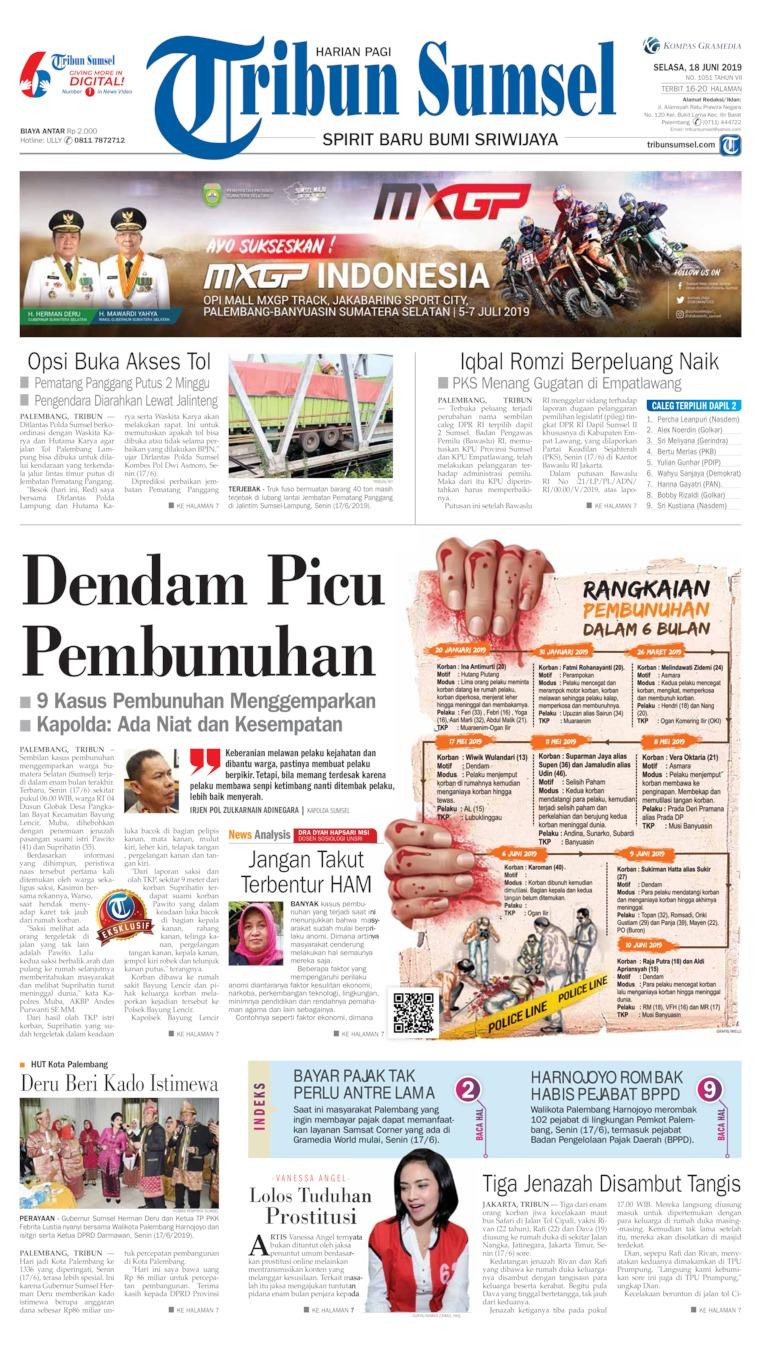 Tribun Sumsel Digital Newspaper 18 June 2019