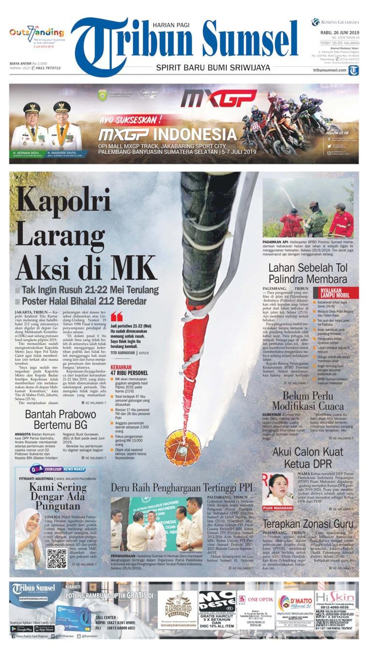 Koran Digital Tribun Sumsel 26 Juni 2019