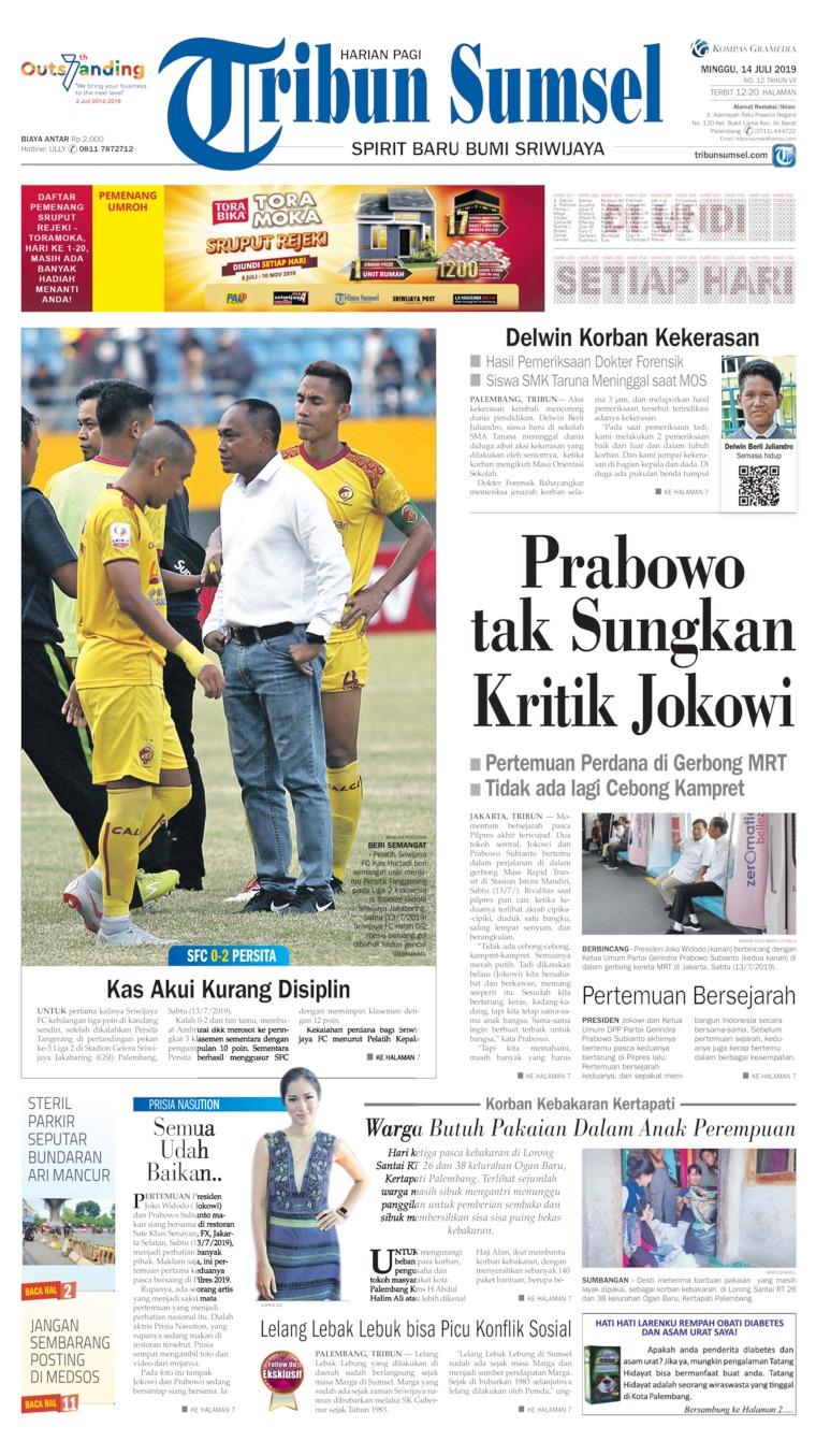 Koran Digital Tribun Sumsel 14 Juli 2019