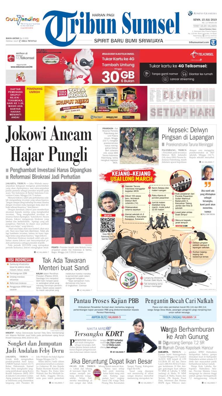 Koran Digital Tribun Sumsel 15 Juli 2019