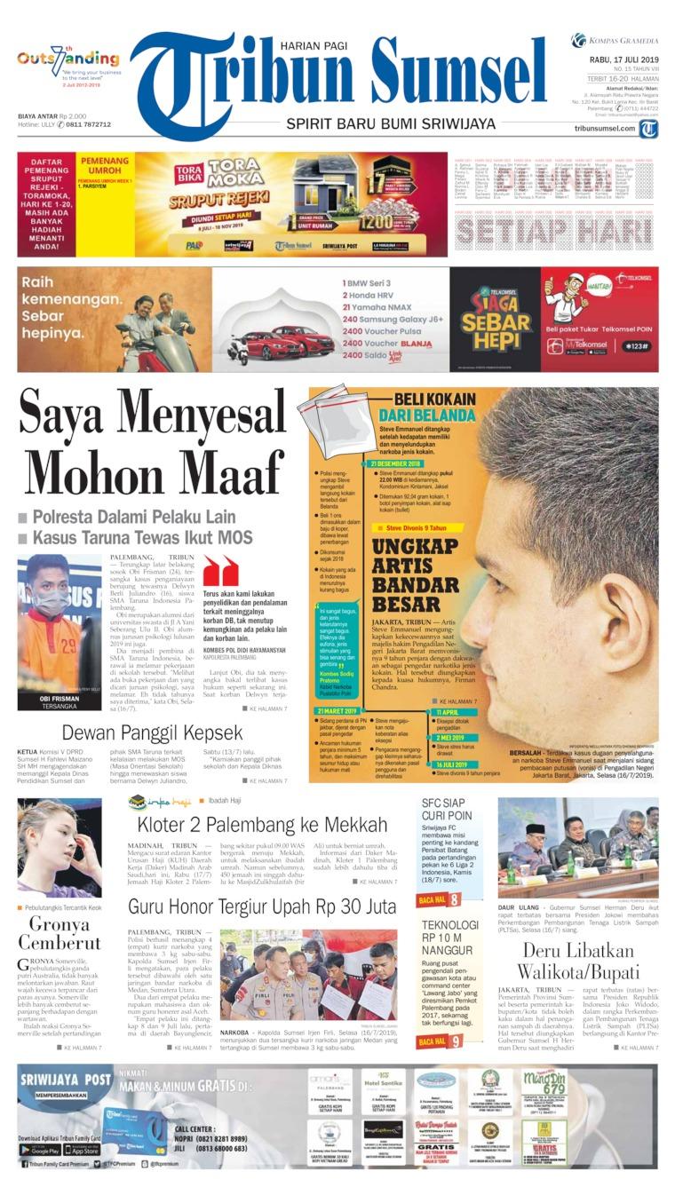 Tribun Sumsel Digital Newspaper 17 July 2019