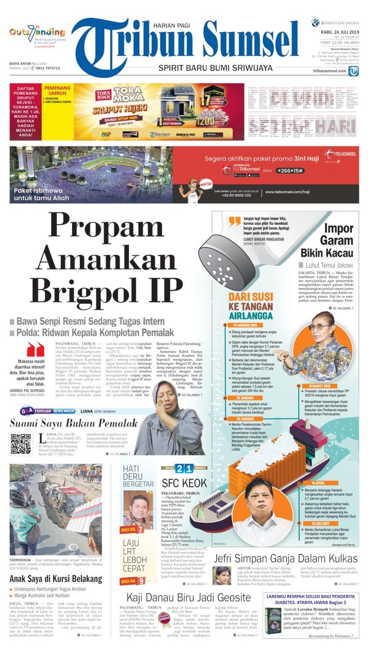 Tribun Sumsel Digital Newspaper 24 July 2019