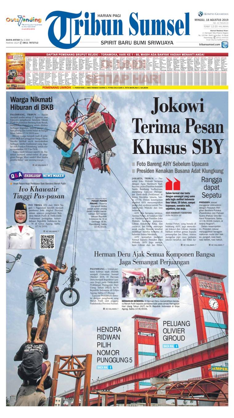 Koran Digital Tribun Sumsel 18 Agustus 2019