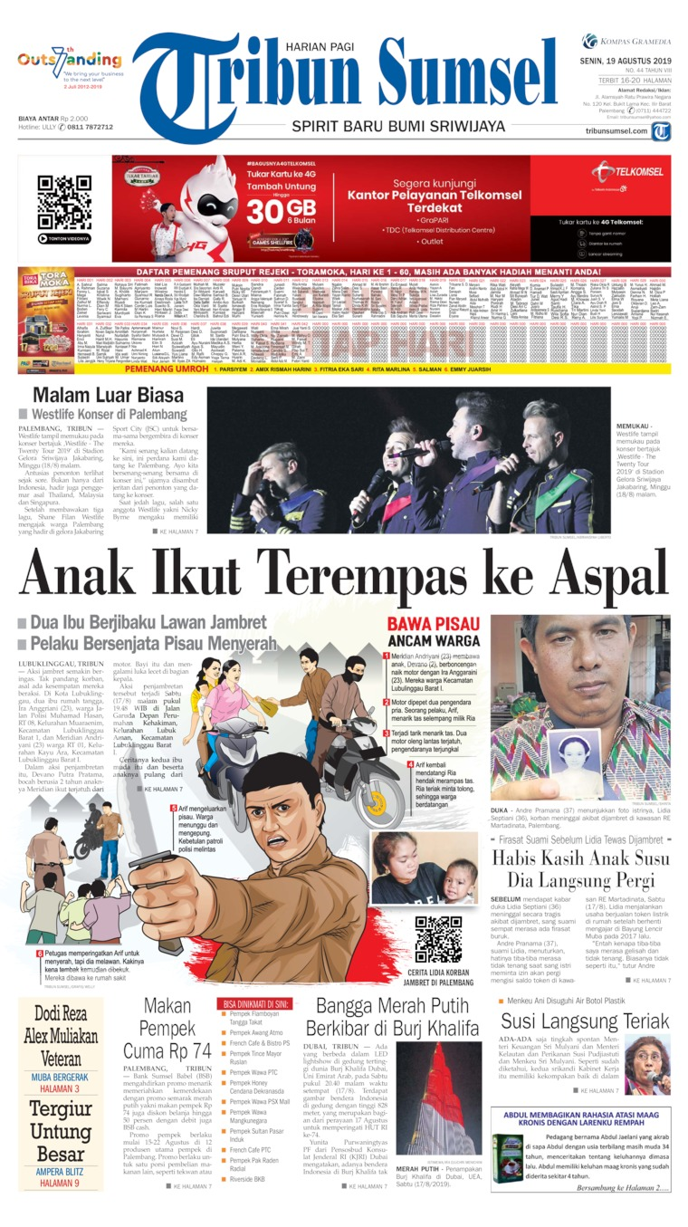 Koran Digital Tribun Sumsel 19 Agustus 2019