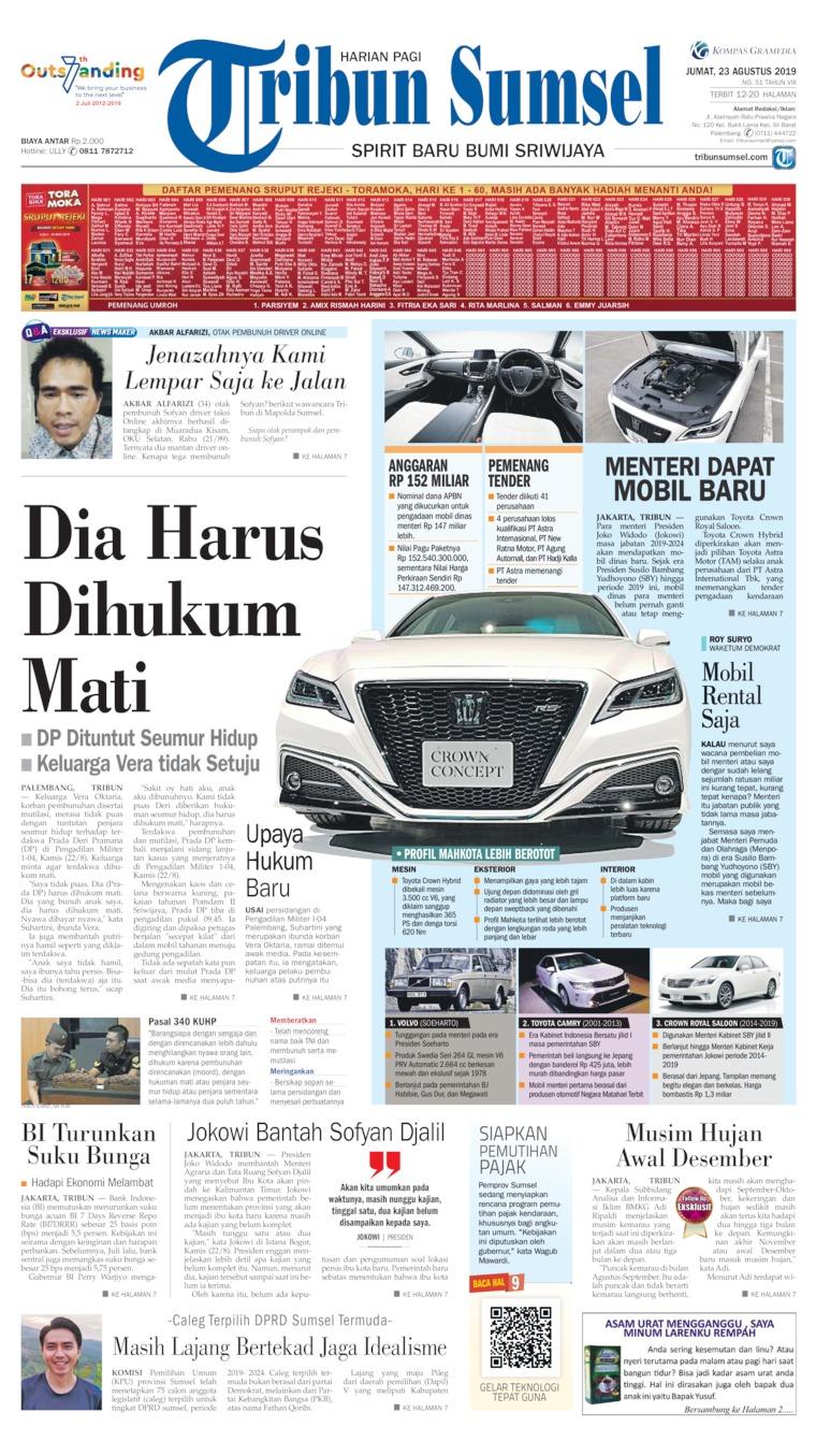 Koran Digital Tribun Sumsel 23 Agustus 2019