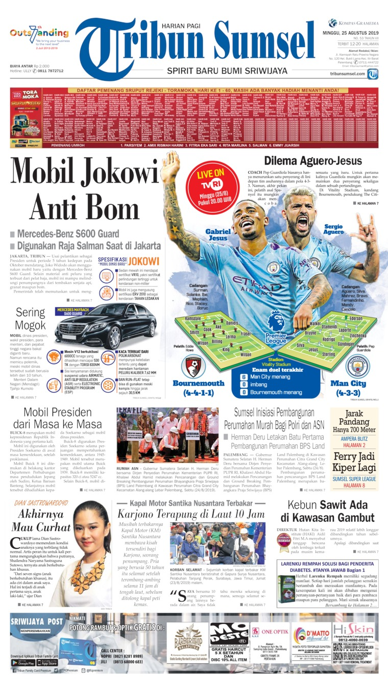 Tribun Sumsel Digital Newspaper 25 August 2019
