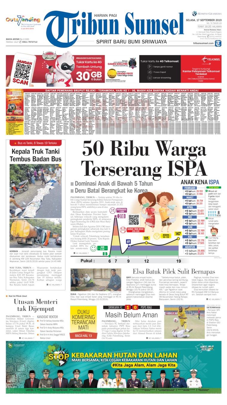 Koran Digital Tribun Sumsel 17 September 2019