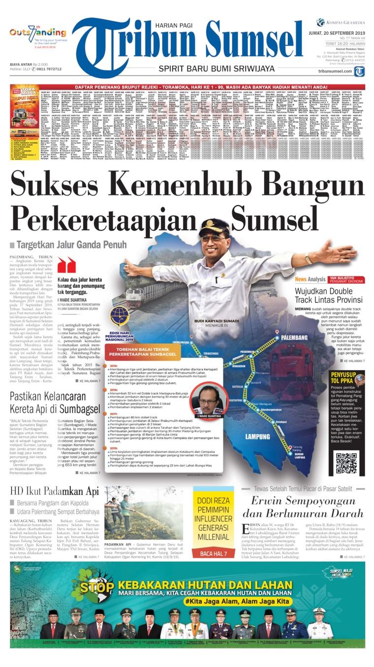 Koran Digital Tribun Sumsel 20 September 2019