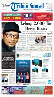 Tribun Sumsel Cover 23 February 2018