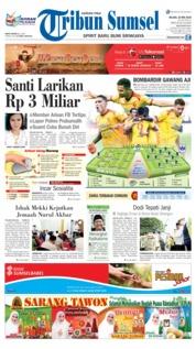 Cover Tribun Sumsel 22 Mei 2018